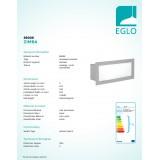 EGLO 88008 | Zimba Eglo zabudovateľné svietidlo 243x101mm 1x E27 IP44 strieborný, saténový