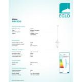 EGLO 93444 | Navedo Eglo visiace svietidlo 1x E27 IP44 biela, priesvitná