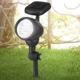 GLOBO 33026 | Soglo96 Globo stenové, zapichovacie svietidlo slnečné kolektorové / solárne, sklápacie 3x LED čierna, priesvitné