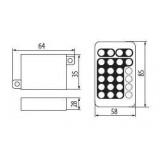 KANLUX 18960   Kanlux ovládač RGB LED IR obdĺžnik biela