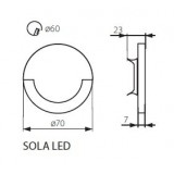 KANLUX 23100 | Kanlux-Sola Kanlux zabudovateľné svietidlo kruhový Ø70mm 1x LED 13lm 3000K zušľachtená oceľ, nehrdzavejúca oceľ, priesvitné