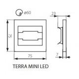 KANLUX 23103 | Kanlux-Terra Kanlux zabudovateľné svietidlo štvorec 75x75mm 1x LED 13lm 3000K zušľachtená oceľ, nehrdzavejúca oceľ, priesvitné