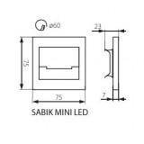 KANLUX 23109 | Kanlux-Sabik Kanlux zabudovateľné svietidlo štvorec 75x75mm 1x LED 13lm 3000K zušľachtená oceľ, nehrdzavejúca oceľ, priesvitné