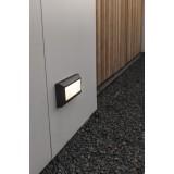 LUTEC 5191601118   Helena-LU Lutec stenové svietidlo 1x LED 400lm 4000K IP54 antracitová sivá, opál