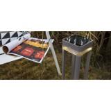 LUTEC 6908002337 | Table-Cube Lutec prenosné, zapichovacie, stojaté svietidlo dotykový prepínač s reguláciou svetla slnečné kolektorové / solárne, regulovateľná intenzita svetla, nastaviteľná výška 1x LED 100lm 3000K IP44 strieborno sivá, priesvitné