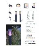 LUTEC 6609205118 | WiZ-Explorer Lutec zapichovacie WiZ múdre osvetlenie regulovateľná intenzita svetla, nastaviteľná farebná teplota, meniace farbu, otočné prvky, Wifi pripojenie 1x LED 430lm 2200 <-> 6500K IP54 tmavo sivé
