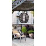 RABALUX 8648 | Knoxville Rabalux visiace svietidlo 1x E27 IP44 UV čierna, hnedá, biela