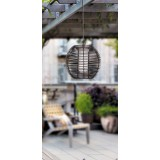 RABALUX 8648   Knoxville Rabalux visiace svietidlo 1x E27 IP44 UV čierna, hnedá, biela