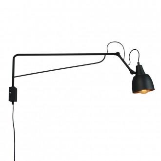 ALDEX 1002C1_D | Soho-AL Aldex rameno stenové svietidlo otočné prvky 2x E27 čierna