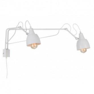 ALDEX 1002D | Soho-AL Aldex rameno stenové svietidlo otočné prvky 2x E27 biela
