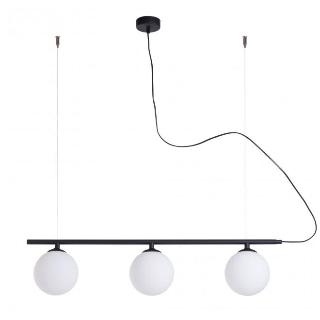 ALDEX 1006E/1 | Beryl Aldex visiace svietidlo 3x E14 čierna, biela