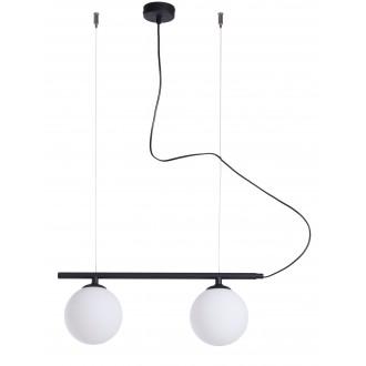 ALDEX 1006H1 | Beryl Aldex visiace svietidlo 2x E14 čierna, biela