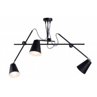 ALDEX 1008E/1 | Arte Aldex stropné svietidlo otočné prvky 3x E27 čierna, biela, chróm