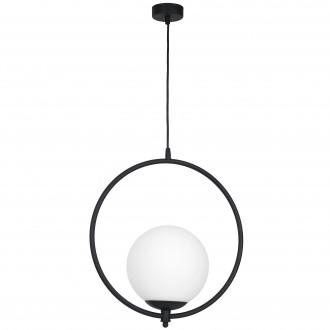 ALDEX 1011G1 | Luna-AL Aldex visiace svietidlo 1x E27 čierna, biela