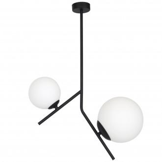 ALDEX 1011PL/H1 | Luna-AL Aldex stropné svietidlo 1x E14 + 1x E27 čierna, biela