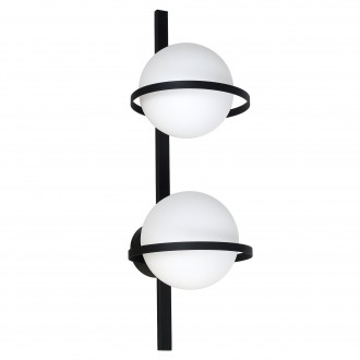 ALDEX 1014D | Drops-AL Aldex stenové, stropné svietidlo 2x E14 čierna, biela