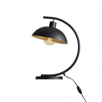 ALDEX 1036B1 | Espace Aldex stolové svietidlo 40cm prepínač otočné prvky 1x E27 čierna, biela, zlatý