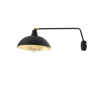 ALDEX 1036C1 | Espace Aldex rameno stenové svietidlo otočné prvky 1x E27 čierna, biela, zlatý