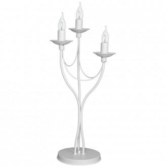 ALDEX 397B/D | Roza Aldex stolové svietidlo 63cm prepínač na vedení 3x E14 biela