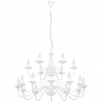 ALDEX 397S | Roza Aldex luster svietidlo 18x E14 biela