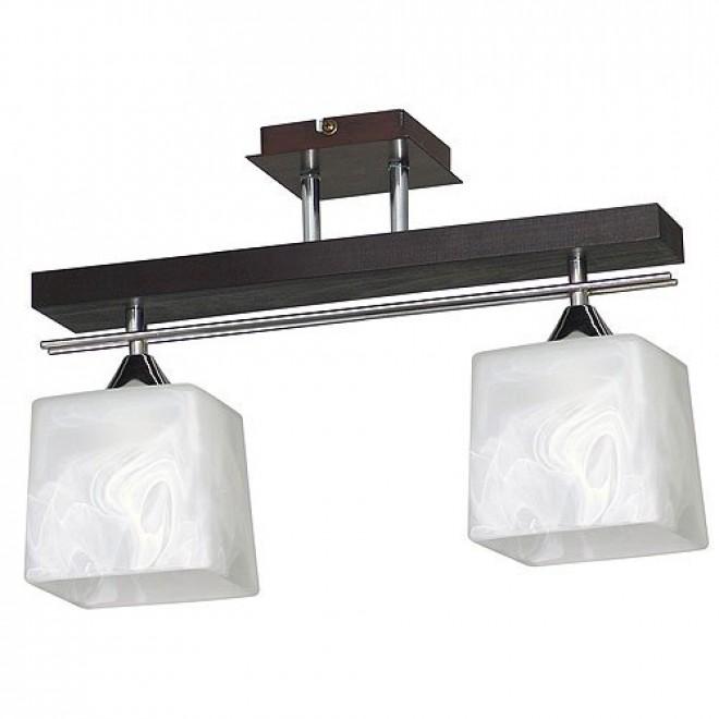 ALDEX 527H | FabioA Aldex stropné svietidlo 2x E27 čierna, chróm, biela