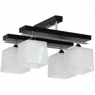 ALDEX 527L | FabioA Aldex stropné svietidlo 4x E27 čierna, chróm, biela