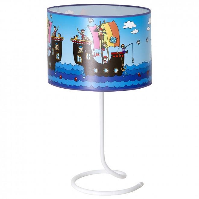 ALDEX 657B12 | Piraci-I Aldex stolové svietidlo 53cm prepínač 1x E27 biela, modrá, viacferebné