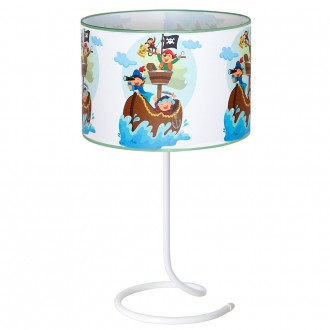 ALDEX 657B16 | Piraci_II Aldex stolové svietidlo prepínač 1x E14 biela, viacferebné