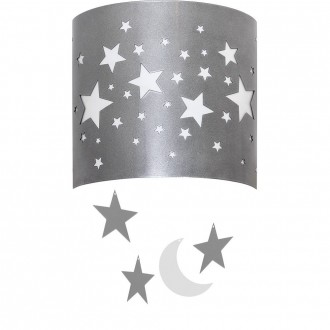 ALDEX 710C/3 | Gwiazdy Aldex stenové svietidlo 1x E14 strieborný, biela