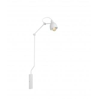 ALDEX 814C | Aida-Bibi Aldex rameno stenové svietidlo otočné prvky 1x E27 biela