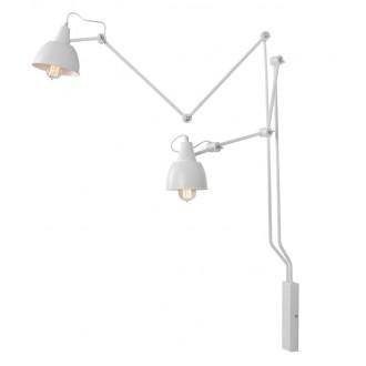 ALDEX 814D | Aida-Bibi Aldex rameno stenové svietidlo otočné prvky 2x E27 biela