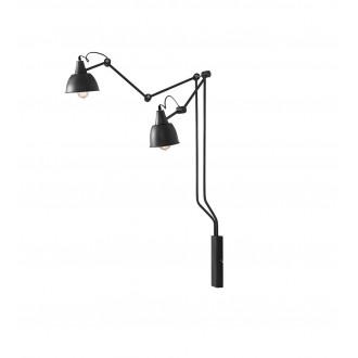 ALDEX 814D19 | Aida-Bibi Aldex rameno stenové svietidlo otočné prvky 2x E27 čierna