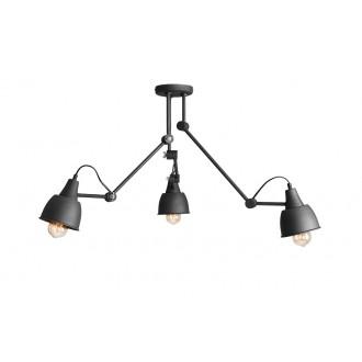ALDEX 814PL_E19 | Aida-Bibi Aldex stropné svietidlo otočné prvky 3x E27 čierna