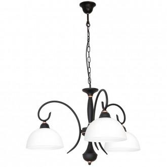 ALDEX 829E/1 | RenAl Aldex luster svietidlo 3x E27 čierna, biela, mosadz
