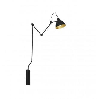 ALDEX 843C_1 | Aida-Bibi Aldex rameno stenové svietidlo otočné prvky 1x E27 čierna, zlatý