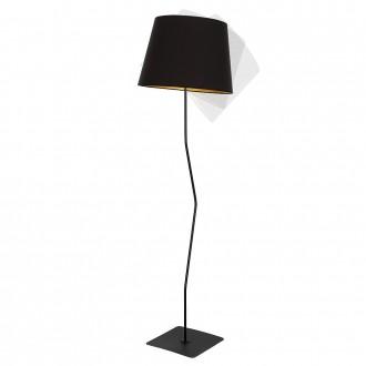 ALDEX 920A1 | Marylin Aldex stojaté svietidlo 163cm prepínač 1x E27 čierna, zlatý