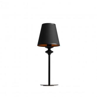 ALDEX 933B | Chocco Aldex stolové svietidlo 37cm prepínač 1x E14 čierna, zlatý