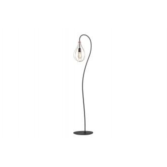 ALDEX 960A | Allegra Aldex stojaté svietidlo 161cm prepínač 1x E27 čierna, mosadz