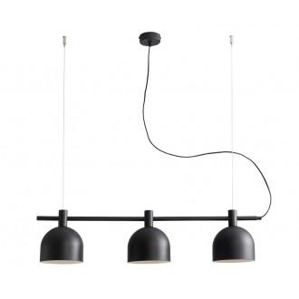 ALDEX 976E/1 | Beryl Aldex visiace svietidlo 3x E27 čierna, biela
