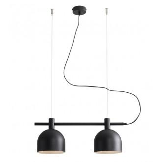 ALDEX 976H1 | Beryl Aldex visiace svietidlo 2x E27 čierna, biela