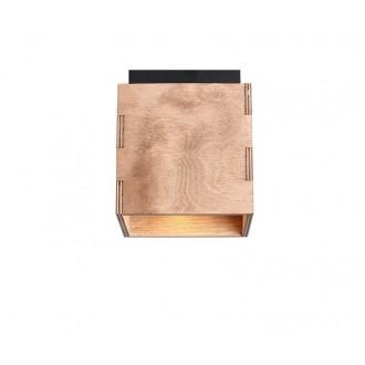 ALDEX 982PL/G | Bit-AL Aldex stropné svietidlo 1x GU10 drevo, čierna