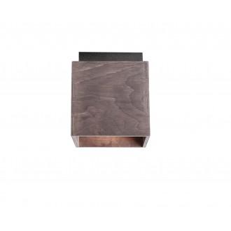 ALDEX 982PL/G21 | Bit-AL Aldex stropné svietidlo 1x GU10 tmavé drevo, čierna