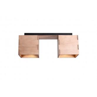 ALDEX 982PL/H | Bit-AL Aldex stropné svietidlo 2x GU10 drevo, čierna