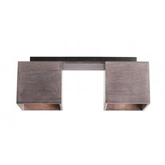 ALDEX 982PL/H21 | Bit-AL Aldex stropné svietidlo 2x GU10 tmavé drevo, čierna