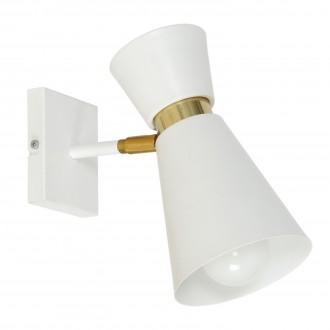 ALDEX 988C | Kedar Aldex rameno stenové svietidlo otočné prvky 1x E27 biela, zlatý
