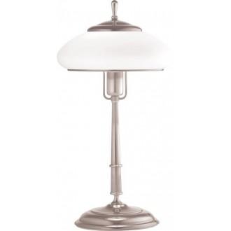 AMPLEX 108 | Agat Amplex stolové svietidlo 49cm prepínač na vedení 1x E27 chróm, biela
