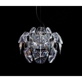 AZZARDO 0314 | 3D Azzardo visiace svietidlo 3x E27 chróm, priesvitné