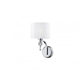 AZZARDO 0503 | Impress-AZ Azzardo rameno stenové svietidlo 1x E27 chróm, biela, krištáľ
