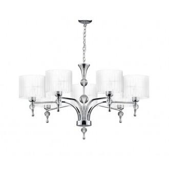 AZZARDO 1106 | Impress-AZ Azzardo luster svietidlo 7x E27 chróm, biela, krištáľ