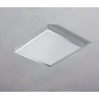 AZZARDO 1272 | Panel-AZ Azzardo sadrokartónový strop, stropné, visiace LED panel štvorec 1x LED 4600lm 3000K hliník, biela